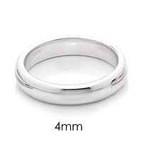 Silver Spectrum Sterling Silver Rhodium Plated Deluxe Wedding Band