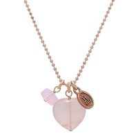 Hillberg & Berk Sterling Silver Rose Gold Plate Valentina Necklace