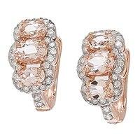 14K Gold Gemstone & Diamond Earrings