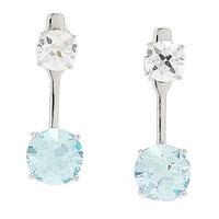 TYCOON for Diamonelle Sterling Silver Platinum Plating Ear Jacket Earrings