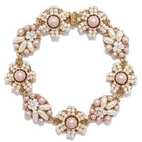 Miriam Haskell Flower Link Pearl Bracelet