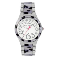 Betsey Johnson Ladies' Silver Gold Tone Bracelet Watch