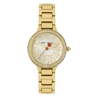 Betsey Johnson Ladies' Gold Tone Bracelet Watch