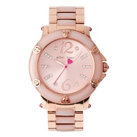 Betsey Johnson Ladies Rose Gold Tone Bracelet Watch