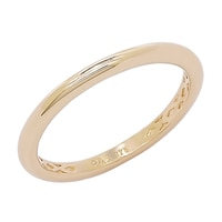 Diamonelle Sterling Silver Gold Plated Thin Polished Band
