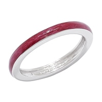 Diamonelle Sterling Silver Epoxy Band