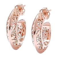 Stefano Oro 14K Fiori Ricami Earrings