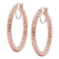 Stefano Oro 14K Gold Etrusca Hoop Earrings
