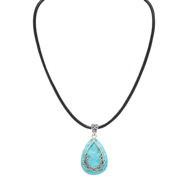 Barse Studio Sterling Silver Afghan Turquoise Pendant Necklace