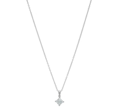 Sigal Style Sterling Silver Aquamarine Pendant with Chain