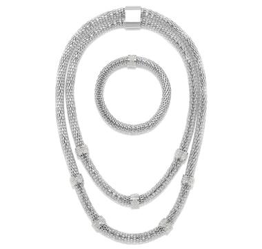 Emma Skye Layered Popcorn Necklace & Bracelet Set
