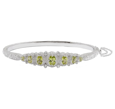 Generations 1912 Sterling Silver Gemstone Bangle