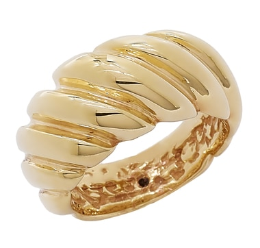 Stefano Oro 14K Yellow Gold Artformed Silicone-Filled Ring