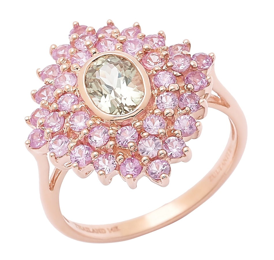 Buy Zultanite Gems 14K Rose Gold Zultanite & Pink Sapphire Ring ...