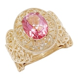 Jewellery of The Grand Bazaar Bold Gemstone Filigree Ring