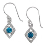 Gem RoManse Sterling Silver Rhodium Plated Gemstone Dream Earrings