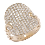 Diamond Boutique 14K Yellow Gold Pave Set Ring