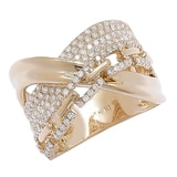 Diamond Boutique 14K Yellow Gold Diamond Multi Crossover Ring