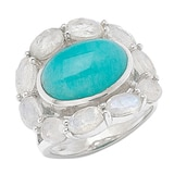 Himalayan Gems Sterling Silver Multi Gemstone Ring