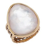 Barse Studio Lumen Faceted Mother of Pearl Ring