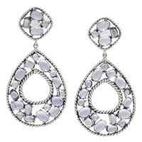 Gem Finds Sterling Silver Iolite Drop Earrings