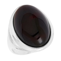 Amber Extraordinaire Sterling Silver Amber Oval Ring