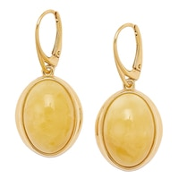 Amber Extraordinaire Sterling Silver Amber Oval Earrings