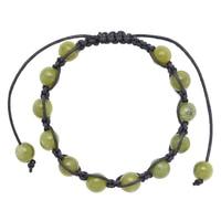 Connemara Marble Shamballa Bracelet