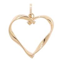Pendentif en forme de cœur sur or jaune ct de Stefano Oro
