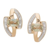 Zultanite Gems 14K Yellow Gold Zultanite & Diamond Earrings