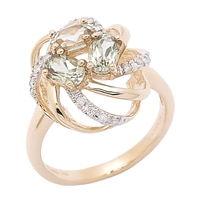 Zultanite Gems 14K Yellow Gold Zultanite & Diamond Flower Ring