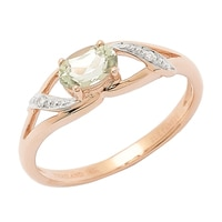 Zultanite Gems 14K Rose Gold Zultanite & Diamond Ring