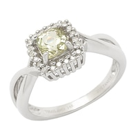 Zultanite Gems 14K White Gold Zultanite & Diamond Ring