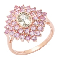 Zultanite Gems 14K Rose Gold Zultanite & Pink Sapphire Ring