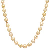 Imperial Pearls 14K Yellow Gold Golden South Sea Pearl Necklace