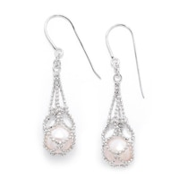 Imperial Pearls Sterling Silver Imperial Freshwater Pearl Lace Earrings