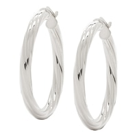 Bronzoro Italia Twisted Round Hoop Earrings