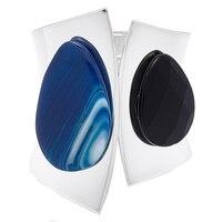 Rita Tesolin The Agate Shield Cuff (Blue/Black)