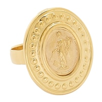 Bague en or jaune 14 ct Fortuna de Tagliamonte Vicenza