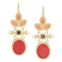 Vicenza Gold Sterling Silver Pelle D'Angelo Earrings