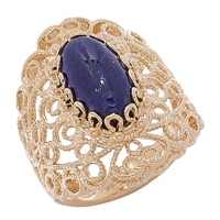 Jewellery of The Grand Bazaar Oval Gemstone Filigree Ring