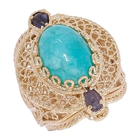 Jewellery of The Grand Bazaar Amazonite & Iolite Ring