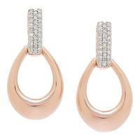 Clarity Diamonds Sterling Silver Diamond Drop Earrings