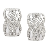 Clarity Diamonds Sterling Silver Diamond Crossover Earrings