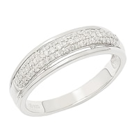 Clarity Diamonds Sterling Silver Diamond Band
