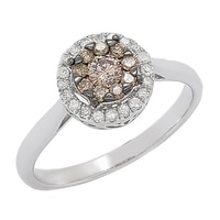 Clarity Diamonds Sterling Silver Multi Diamond Cluster Ring