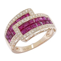 Diamond Boutique 14K Yellow Gold Ruby & Diamond Ring