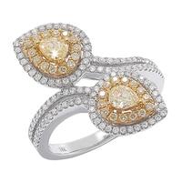 Diamond Boutique 18K Two Tone Gold Yellow & White Diamond Ring