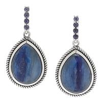 Himalayan Gems Sterling Silver Kyanite & Iolite Drop Earrings