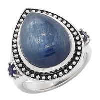 Himalayan Gems Sterling Silver Kyanite & Iolite Ring
